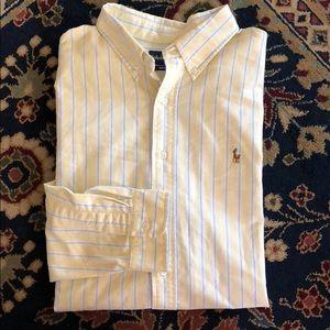 Polo Button Down Striped Men's